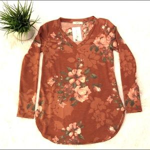 A.gain Floral Long Sleeve Top